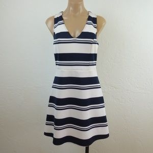 Abercrombie & Fitch Striped Fit Flare Dress M S